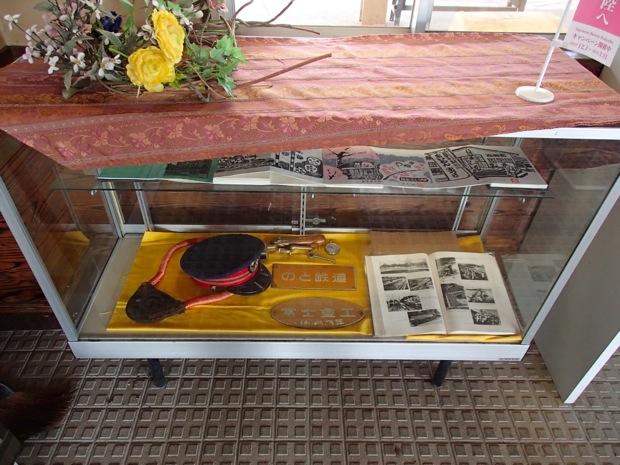 駅の中には昔懐かしのアイテムも展示中!